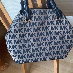 Michael kors signature bag brown and black